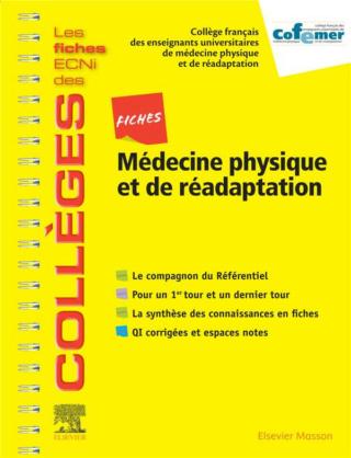 [réadptation]: Les fiches ECNi des collèges Médecine physique et de réadaptation pdf gratuit  97822928
