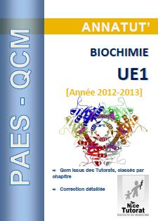 [biochimie]:Annatut QCM  UE1-Biochimie pdf gratuit  Annatu10