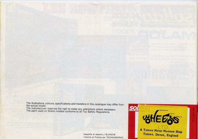 Solido - Catalogue 1977 - Export File0133