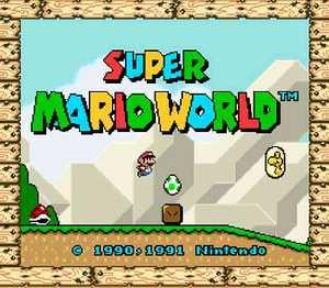 The Super Nintendo Entertainment System Mario110