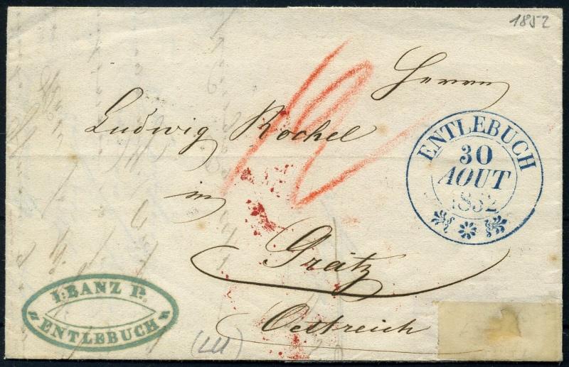 Taxierung Brief von Schweiz nach Österreich Doppel11