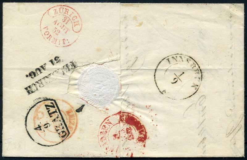 Taxierung Brief von Schweiz nach Österreich Doppel12