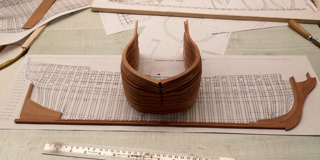H.M.S.ALFRED - 74 cannoni del 1778 Costruzione in Navyboard su disegni di Harold Hahn scala 1:72 00110