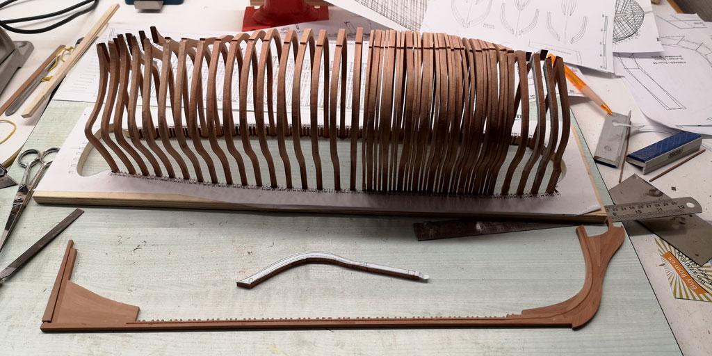 H.M.S.ALFRED - 74 cannoni del 1778 Costruzione in Navyboard su disegni di Harold Hahn scala 1:72 00810