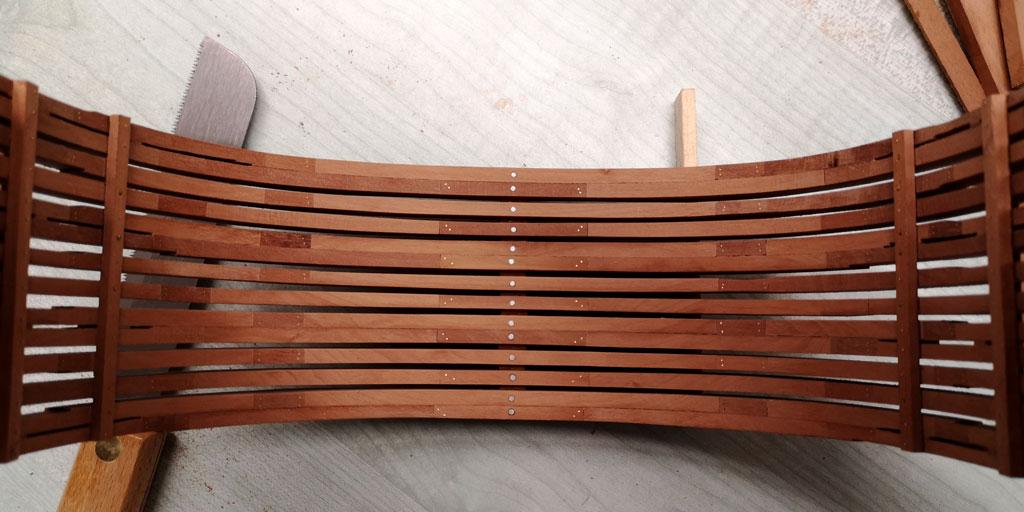 Studio della carpenteria di un vascello inglese di fine '700 1610