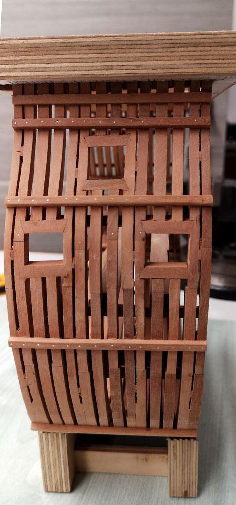 Studio della carpenteria di un vascello inglese di fine '700 2210