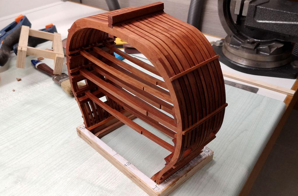 Studio della carpenteria di un vascello inglese di fine '700 2410