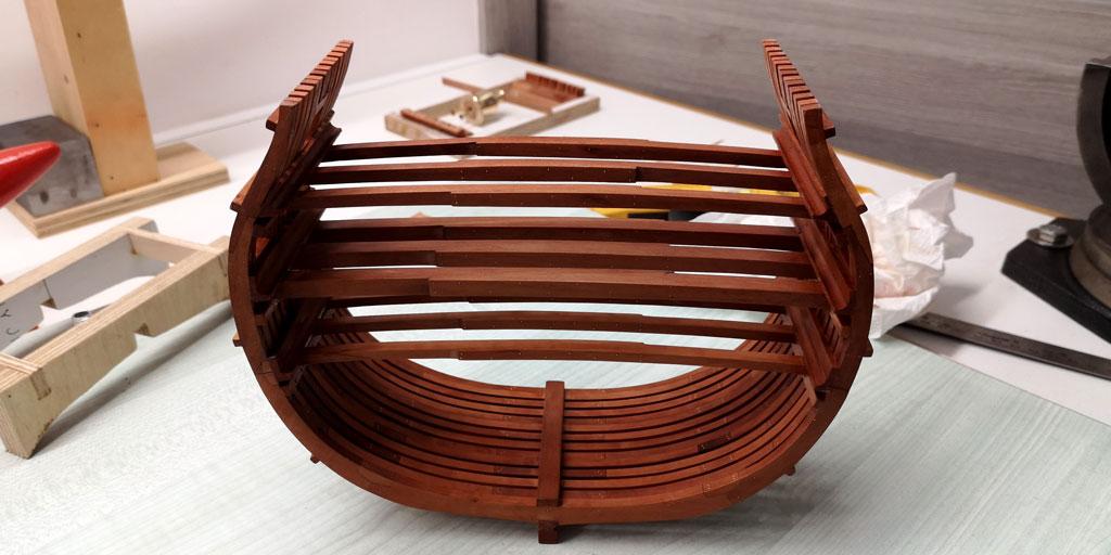 Studio della carpenteria di un vascello inglese di fine '700 2710