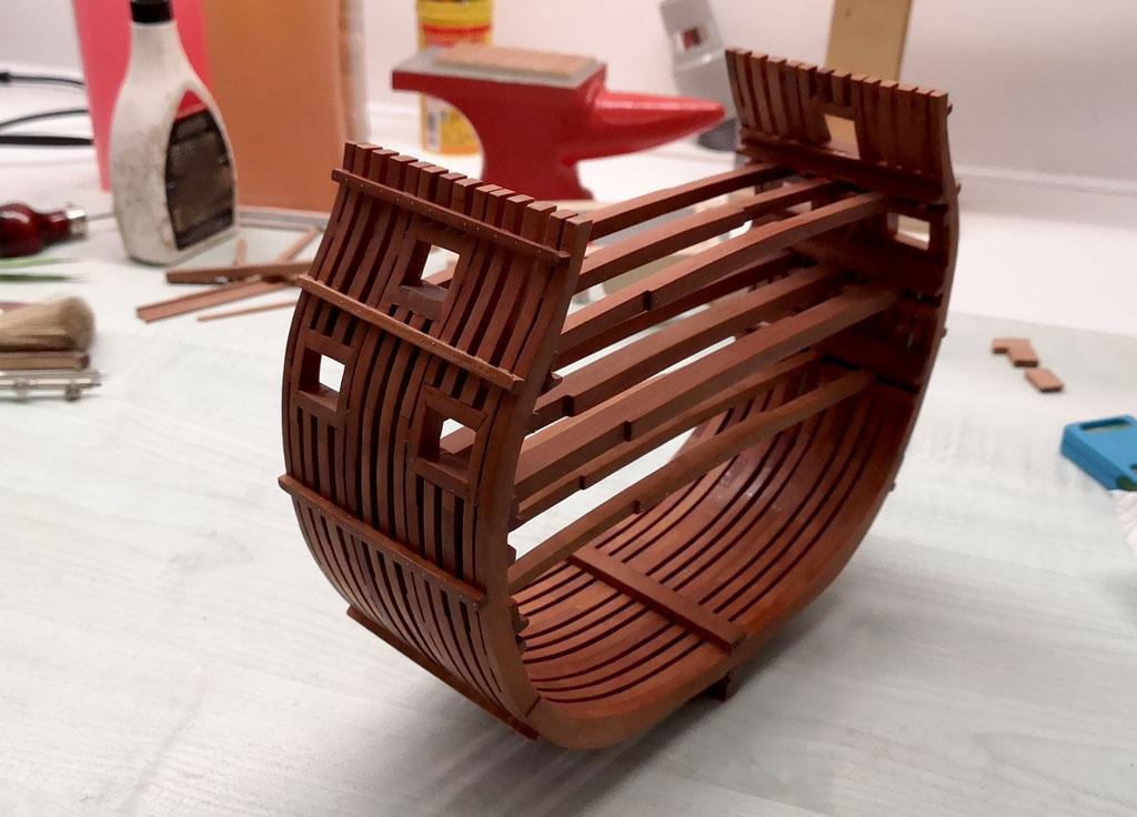 Studio della carpenteria di un vascello inglese di fine '700 3010