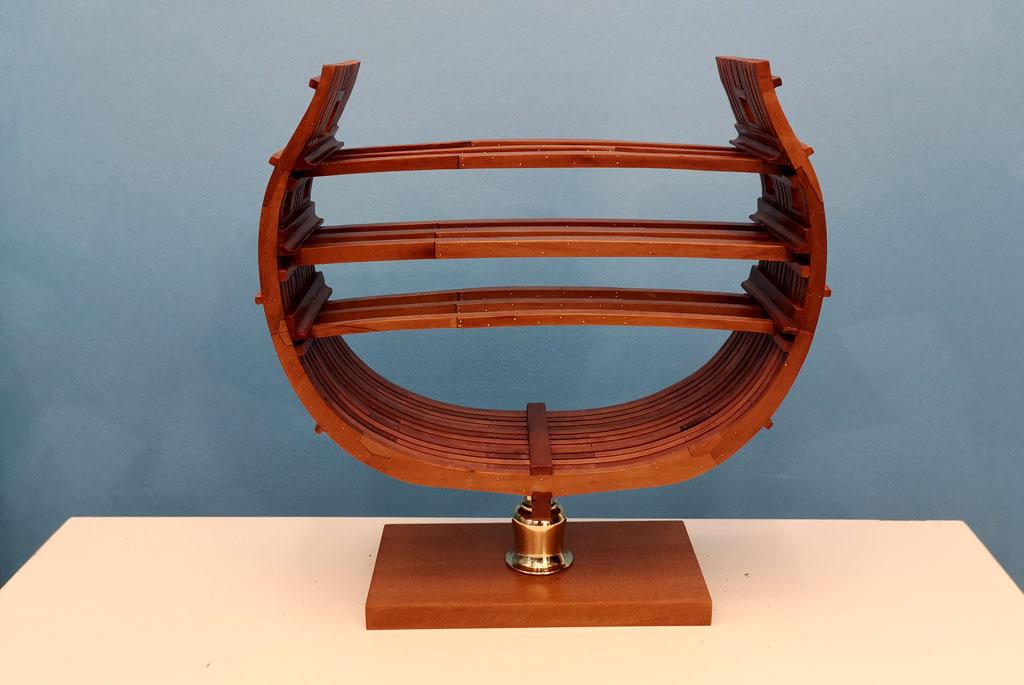 Studio della carpenteria di un vascello inglese di fine '700 3210