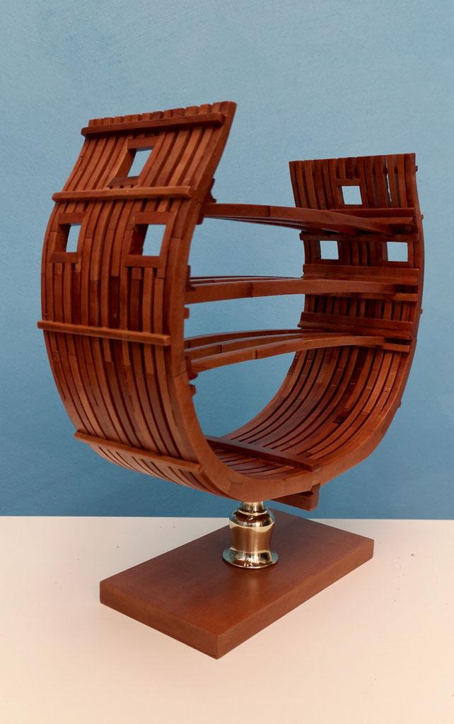 Studio della carpenteria di un vascello inglese di fine '700 3410