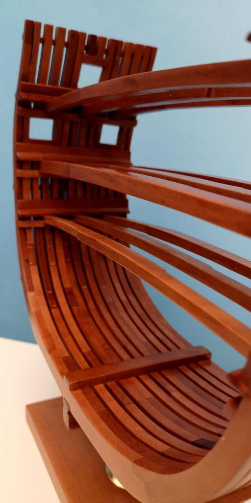 Studio della carpenteria di un vascello inglese di fine '700 3710