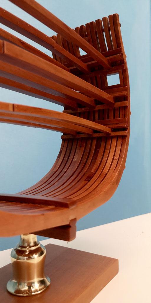 Studio della carpenteria di un vascello inglese di fine '700 3810