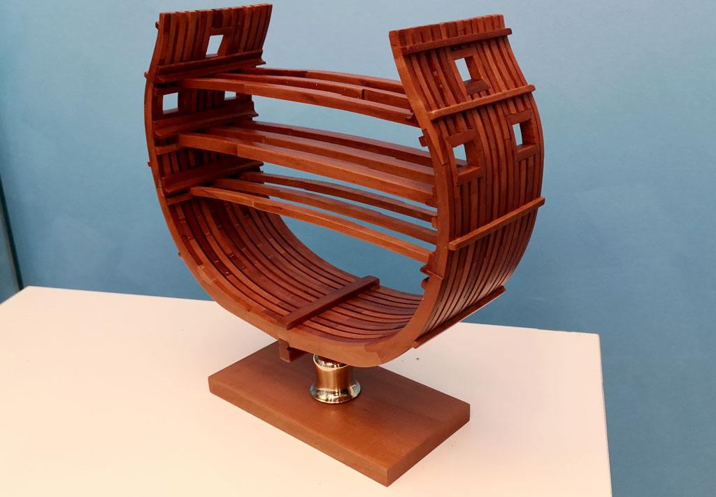 Studio della carpenteria di un vascello inglese di fine '700 4010