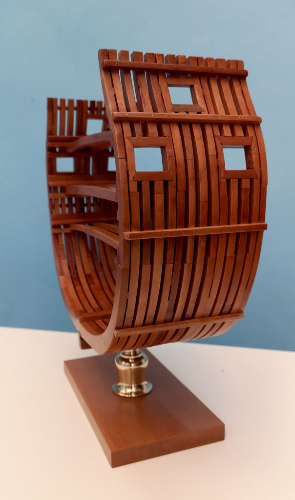 Studio della carpenteria di un vascello inglese di fine '700 4110