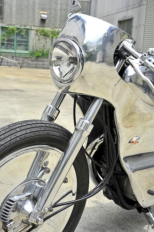 SR400 un peu chromée Detail11