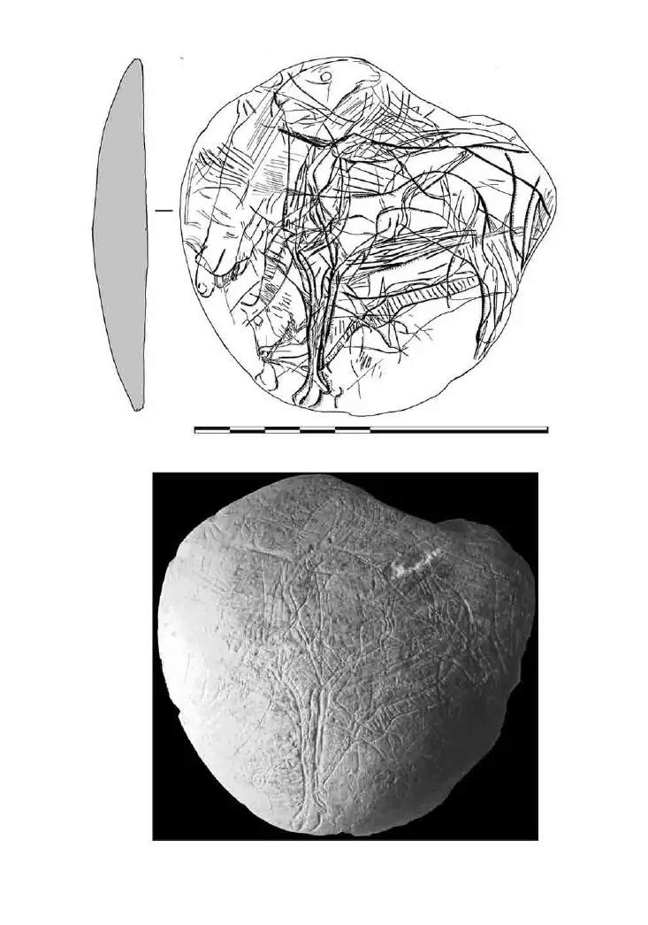Galets et os gravés magdaléniens de la grotte de la Colombière (Neuville sur Ain / Poncin) 13-99210