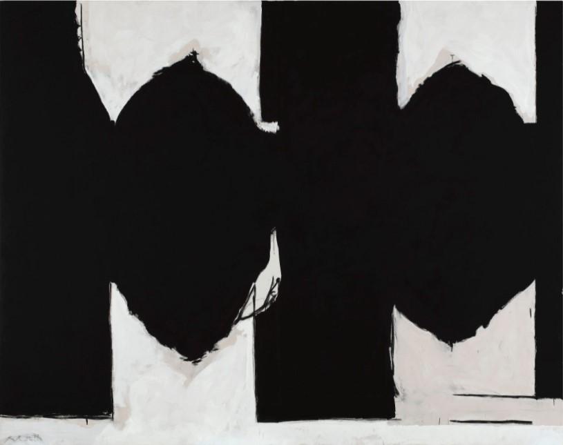 """Motherwell Robert (1915-1991): notes sur les """"Elégies à la République espagnole"""" et sur la série """"Open"""". 134_mo10"""