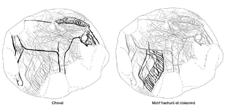 Galets et os gravés magdaléniens de la grotte de la Colombière (Neuville sur Ain / Poncin) 17-84e10