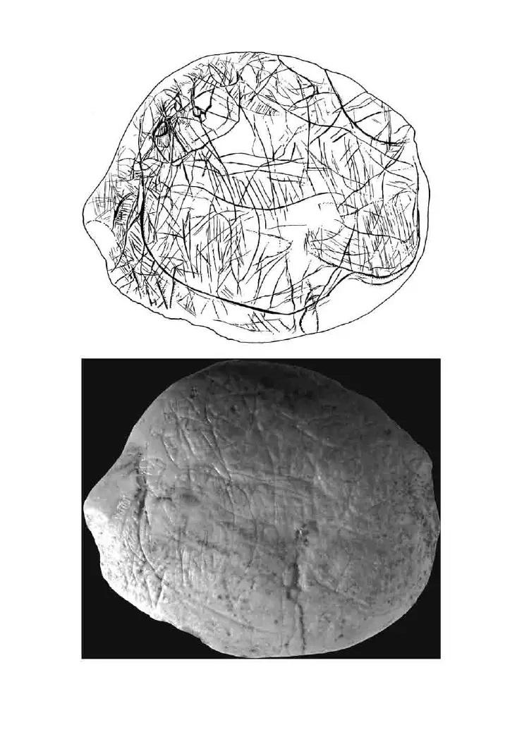 Galets et os gravés magdaléniens de la grotte de la Colombière (Neuville sur Ain / Poncin) 18-54f10