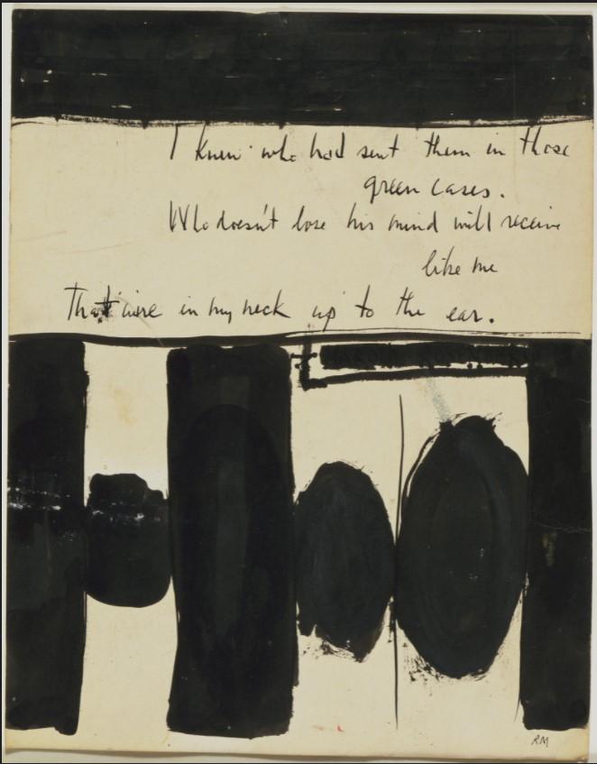 """Motherwell Robert (1915-1991): notes sur les """"Elégies à la République espagnole"""" et sur la série """"Open"""". 1_moth10"""
