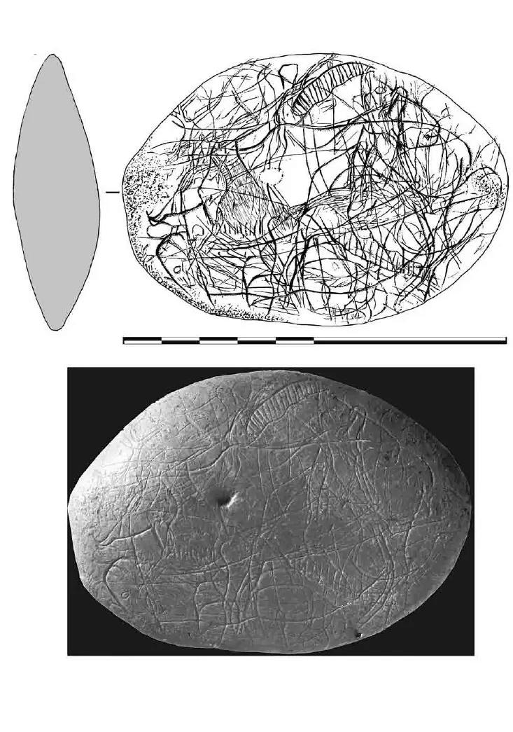 Galets et os gravés magdaléniens de la grotte de la Colombière (Neuville sur Ain / Poncin) 25-76b10