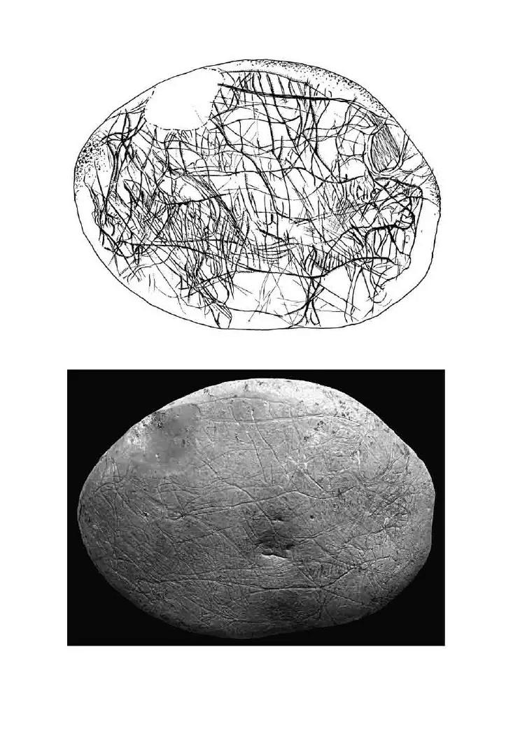 Galets et os gravés magdaléniens de la grotte de la Colombière (Neuville sur Ain / Poncin) 27-08d10