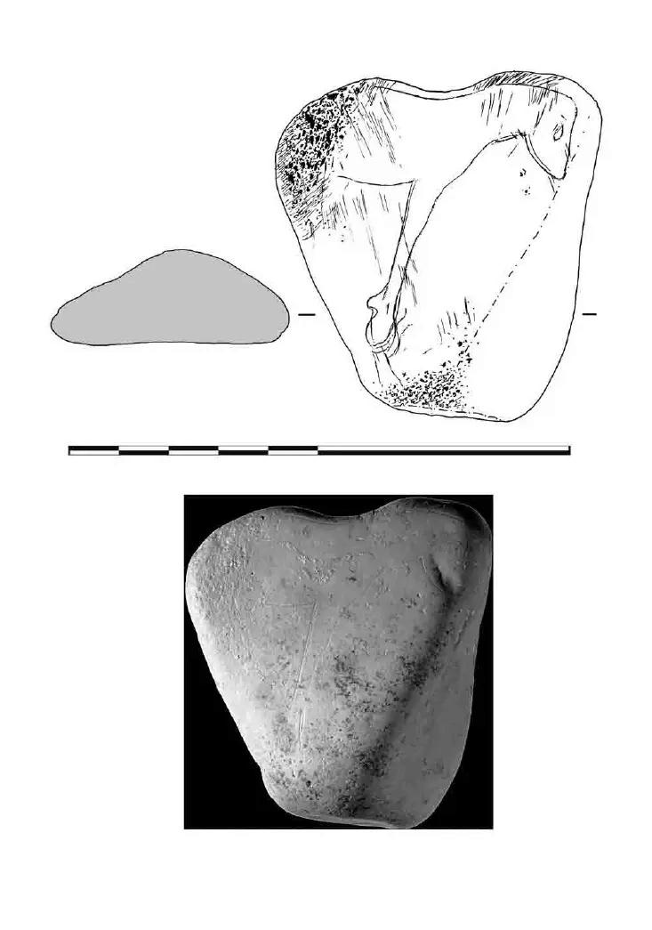 Galets et os gravés magdaléniens de la grotte de la Colombière (Neuville sur Ain / Poncin) 30-fc710