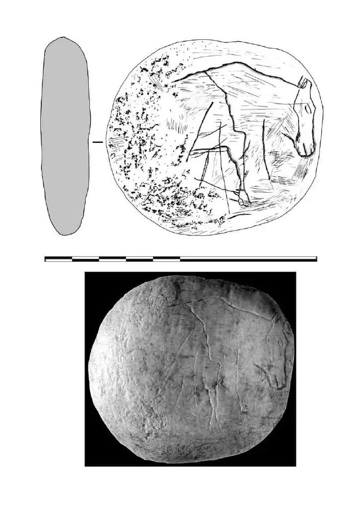 Galets et os gravés magdaléniens de la grotte de la Colombière (Neuville sur Ain / Poncin) 32-d7010