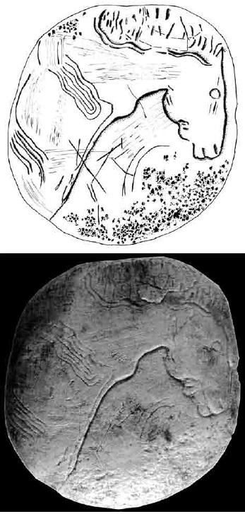 Galets et os gravés magdaléniens de la grotte de la Colombière (Neuville sur Ain / Poncin) 33-acc10
