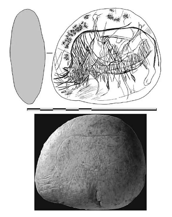Galets et os gravés magdaléniens de la grotte de la Colombière (Neuville sur Ain / Poncin) 34-fb510