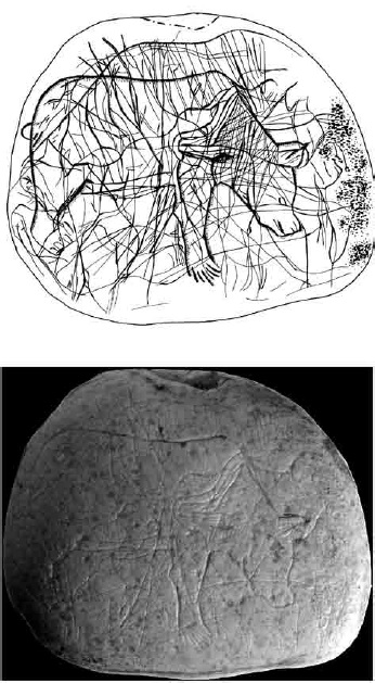 Galets et os gravés magdaléniens de la grotte de la Colombière (Neuville sur Ain / Poncin) 36-4d212