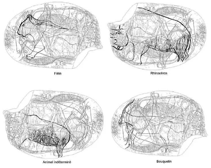 Galets et os gravés magdaléniens de la grotte de la Colombière (Neuville sur Ain / Poncin) 43-25b10