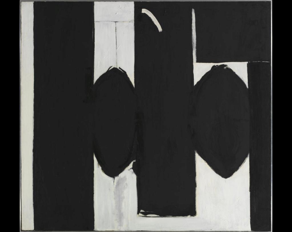 """Motherwell Robert (1915-1991): notes sur les """"Elégies à la République espagnole"""" et sur la série """"Open"""". 55_mot10"""