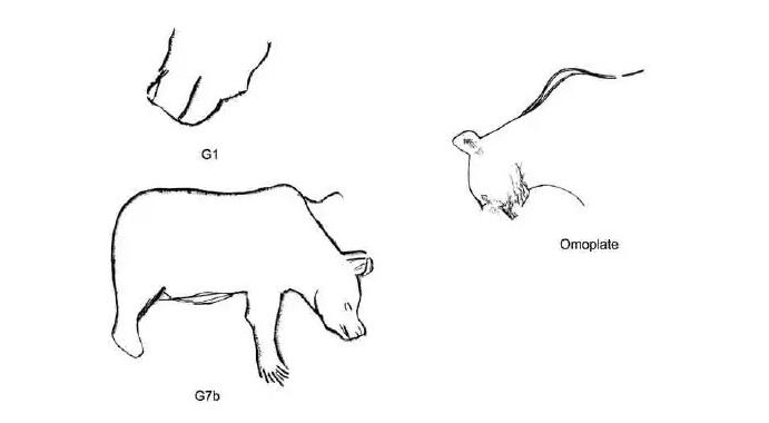 Galets et os gravés magdaléniens de la grotte de la Colombière (Neuville sur Ain / Poncin) 64-4d210