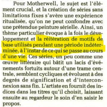 """Motherwell Robert (1915-1991): notes sur les """"Elégies à la République espagnole"""" et sur la série """"Open"""". Captur56"""
