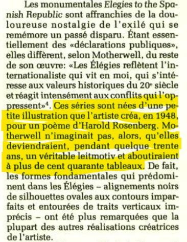 """Motherwell Robert (1915-1991): notes sur les """"Elégies à la République espagnole"""" et sur la série """"Open"""". Captur58"""