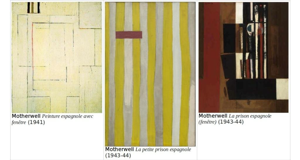 """Motherwell Robert (1915-1991): notes sur les """"Elégies à la République espagnole"""" et sur la série """"Open"""". Captur59"""
