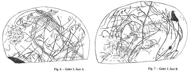 Galets et os gravés magdaléniens de la grotte de la Colombière (Neuville sur Ain / Poncin) Galet_14