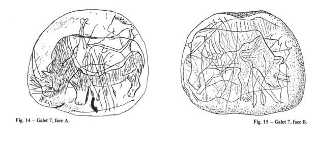 Galets et os gravés magdaléniens de la grotte de la Colombière (Neuville sur Ain / Poncin) Galet_21