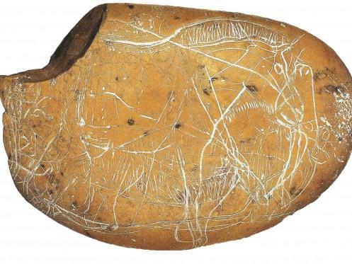 Galets et os gravés magdaléniens de la grotte de la Colombière (Neuville sur Ain / Poncin) Galet_27