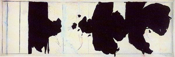 """Motherwell Robert (1915-1991): notes sur les """"Elégies à la République espagnole"""" et sur la série """"Open"""". Mother12"""
