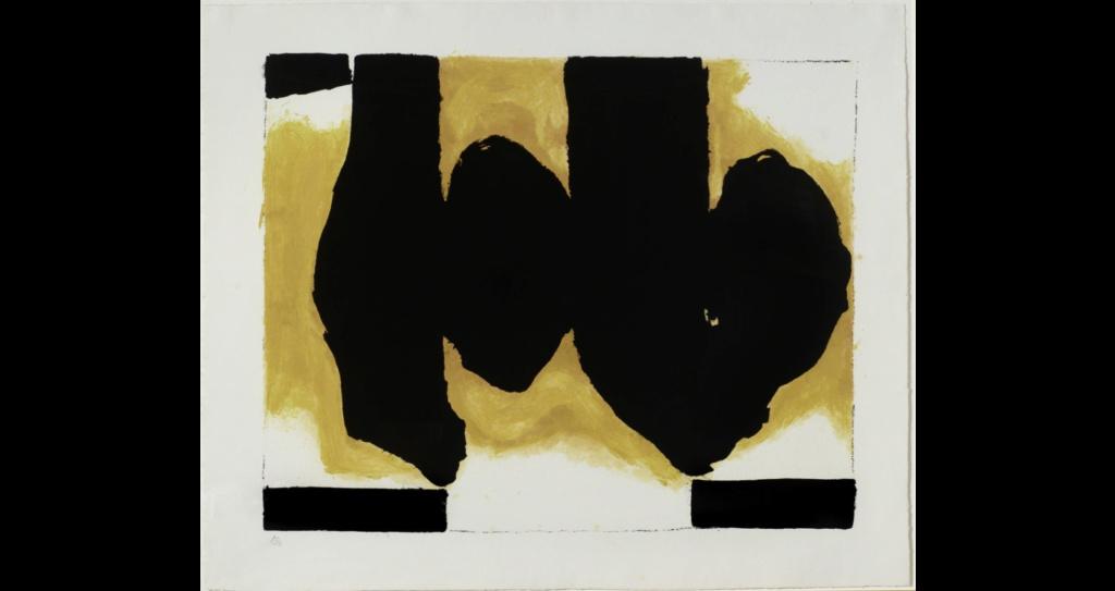 """Motherwell Robert (1915-1991): notes sur les """"Elégies à la République espagnole"""" et sur la série """"Open"""". Mother16"""