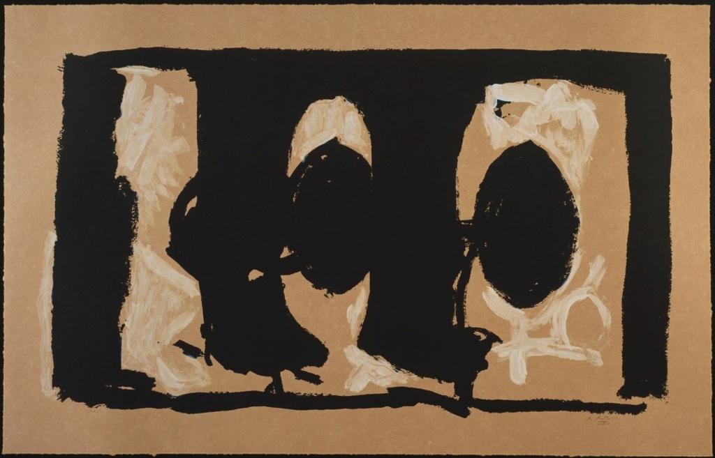 """Motherwell Robert (1915-1991): notes sur les """"Elégies à la République espagnole"""" et sur la série """"Open"""". Mother22"""