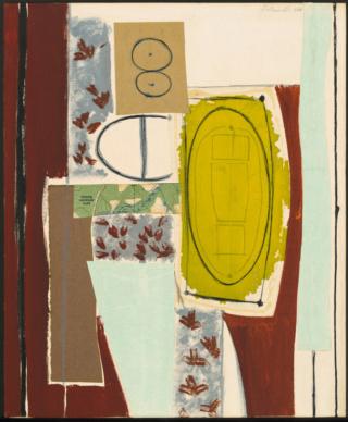 """Motherwell Robert (1915-1991): notes sur les """"Elégies à la République espagnole"""" et sur la série """"Open"""". Mother57"""
