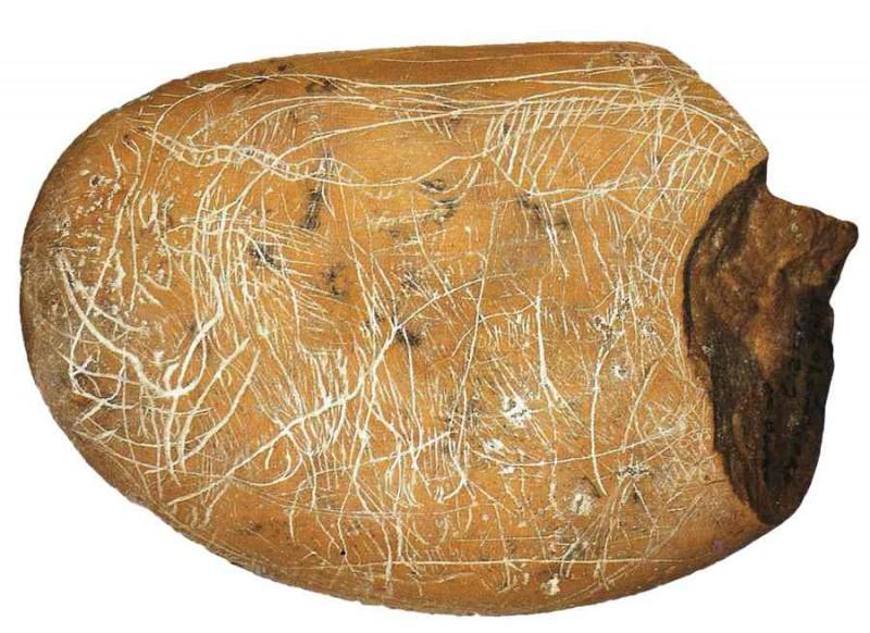 Galets et os gravés magdaléniens de la grotte de la Colombière (Neuville sur Ain / Poncin) Paragr10