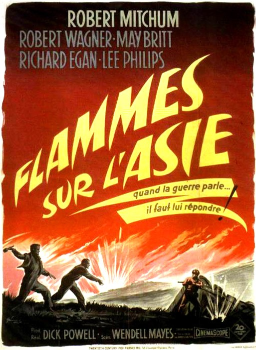 Flammes sur l'Asie - The Hunters - 1958 - Dick Powell Flamme10