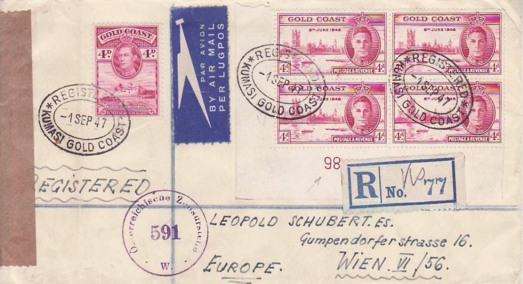 Post von seltenen Länder nach Österreich 1946 bis 1953 5_2_go10