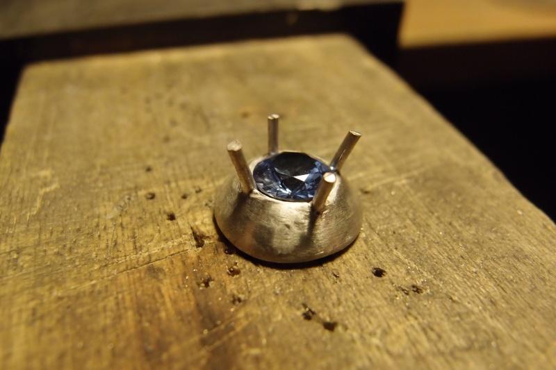 Pendentif goûte d'eau tornade avec aquamarine 6mm P1022311