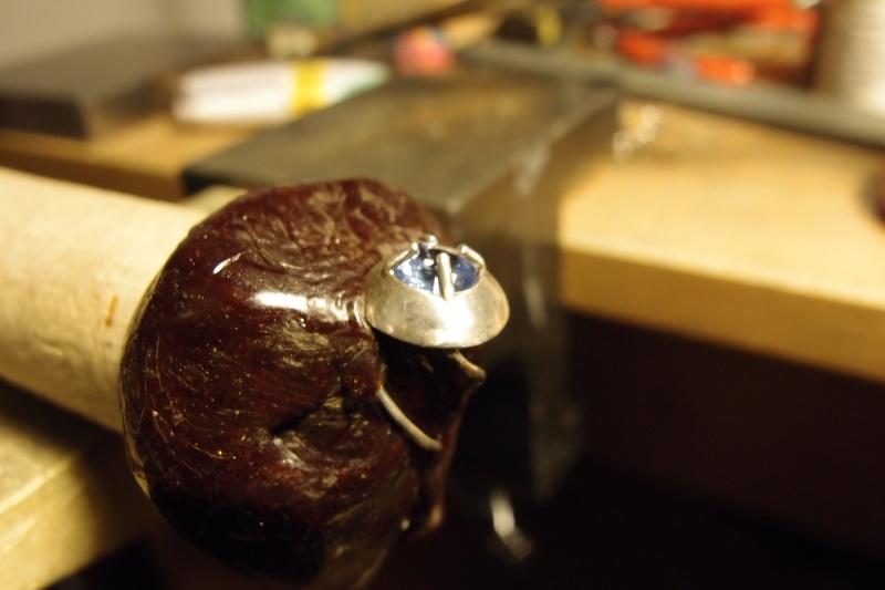 Pendentif goûte d'eau tornade avec aquamarine 6mm P1032313